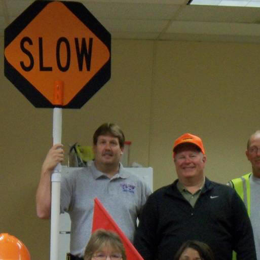 Certified Flagger Instructors - Rex on left, Mitch on right
